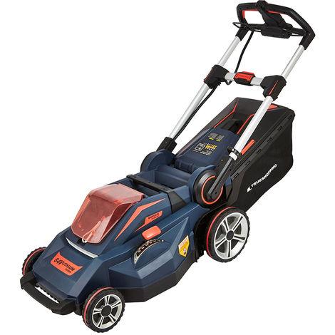 Cordless 84V Battery Lawnmower Garden Mower Grass Cutter 60L Bag Fast Charger