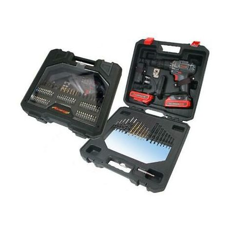 Cordless Drill Set. 18V. 2 Batteries, 71 pc accessories