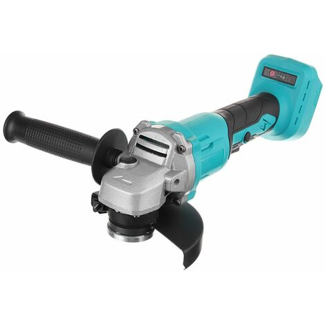 Cordless Electric Angle Grinder 125mm Polishing Grinding Woodworking Tool For Makita 18V Battery (Without Battery)