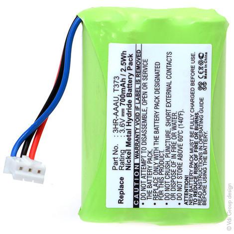 Cordless phone battery 3.6V 700mAh - 3HR-AAAU,70AAAH3BMXZ,T373
