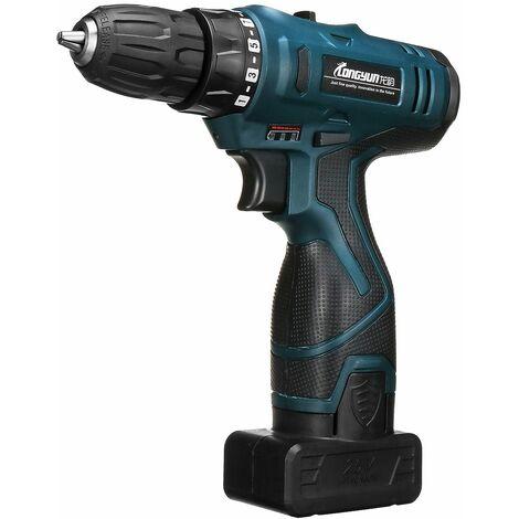 Cordless screwdriver 25V + 2x Li-on battery LED electric screwdriver Kit WASHING