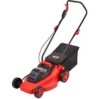 Cordless Wheeled 36V Lawn Mower Li-Ion Battery & Fast Charger Grass Bag 35 Litre