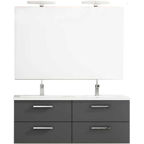 CORDOBA Conjunto mueble de baño antracita 120 cm
