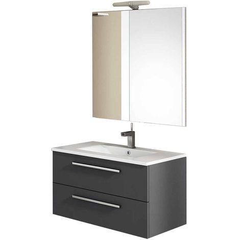 CORDOBA Conjunto mueble de baño Antracita 80 cm