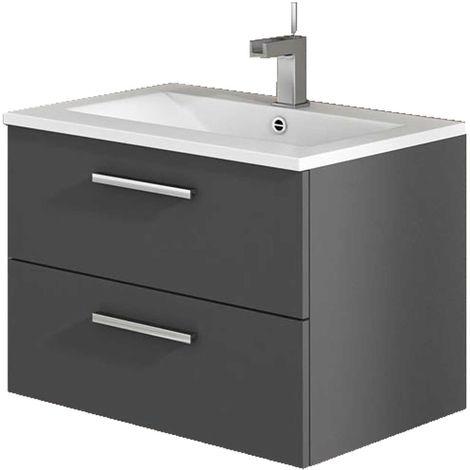 CORDOBA Mueble de baño antracita 60 cm