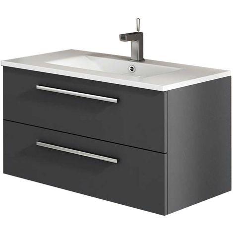 CORDOBA Mueble de baño antracita 80 cm