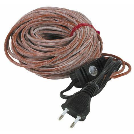 Cordon 24m 230V avec prise et thermostat - DIFF