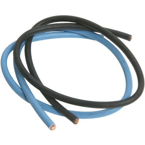 Cordon HO7VK 16² bleu/noir 0.6m - Debflex