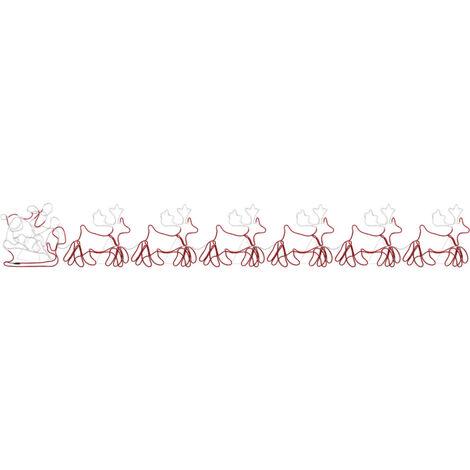Cordon lumineux de Noël 6 Rennes XXL et traîneau 2160 LED 7 m