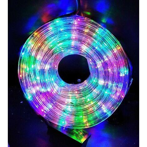 """main image of """"Cordon lumineux LED multicolore longueur 20m Ø 13mm 100 leds animées avec fiche 230V intérieur / exterieur BLACHERE NLED20C"""""""