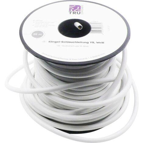 Cordon pour sonnette YR-DR TRU COMPONENTS 1567203 6 x 0.50 mm² blanc 20 m