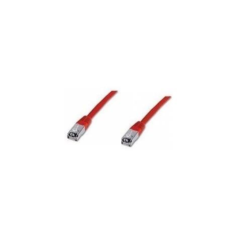 Cordon RJ45 Cat5E F/UTP longueur 2m couleur rouge pour réseau informatique DIGITUS DK-1522-020/R