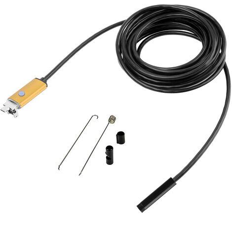 cordon souple de 1 m USB Android Endoscope HD 2 en 1 caméra d'inspection imperméable à l'eau Endoscope Rigide câble de Serpent