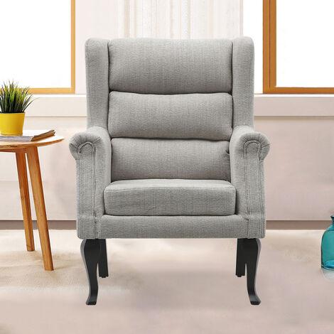 Corduroy High Back Accent Armchair