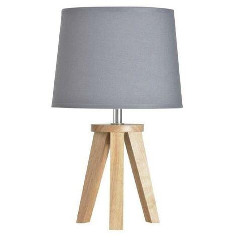 COREP Lampe bois - Trepied Yoga - Gris
