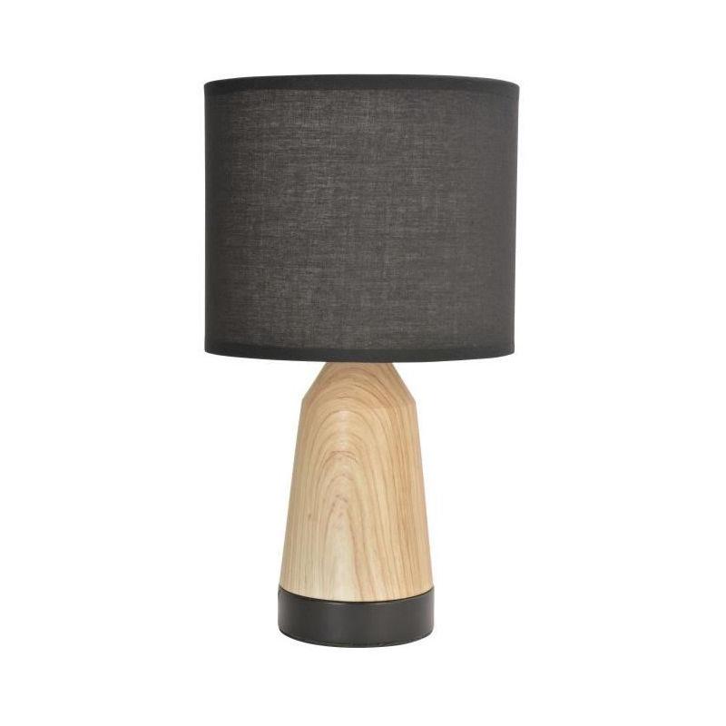 COREP Lampe touch Baltik Noir et naturel