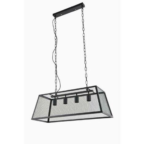 COREP Suspension en métal Stock 4 L - H 132 cm - E 27 - 40 W - Noir mat