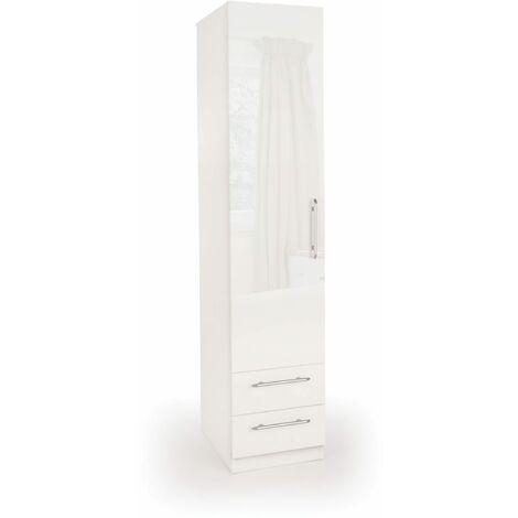 Corisal Gloss  Bedroom Single Combi Wardrobe