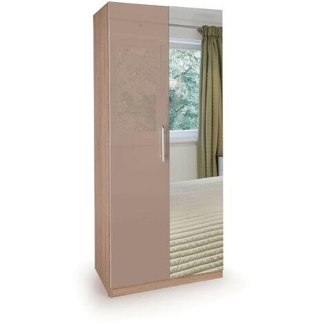 Corisal Wardrobe - Oak Mirrors 2 Doors