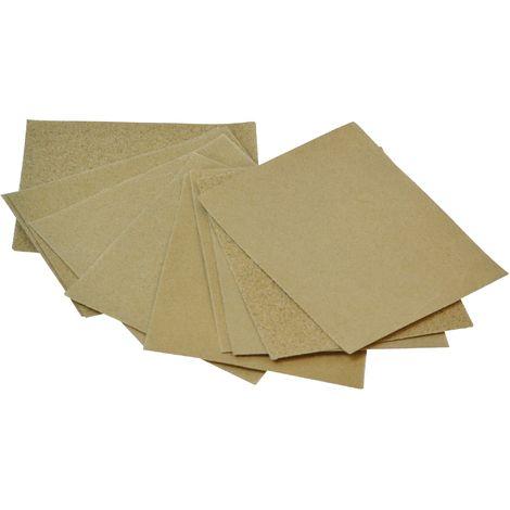 Cork Block Glasspaper Sanding Sheets Assorted (Pack 10)