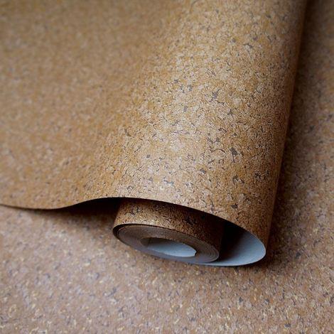 Cork Texture Wallpaper Embossed Plain Feature Wall Terracotta Holden Decor