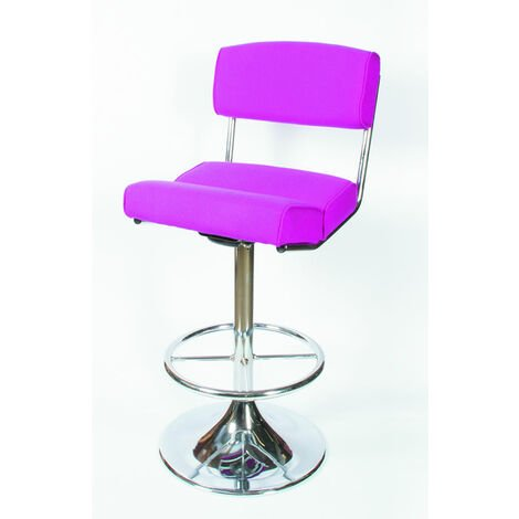Corlan Quality Retro Kitchen Breakfast Bar Stool Chrome With Footrest And Backrest Fully Assembled