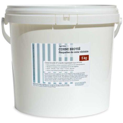Corne broyée véritable pour jardin. Azote diffusion progressive 5 kg