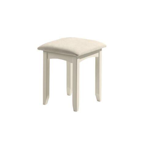 Cornelia Dressing Table Stool Stone White