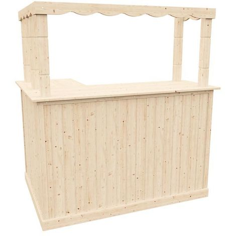 Corner Bar Counter Man Cave Home Bar Party Barware Wood Summer Cabin