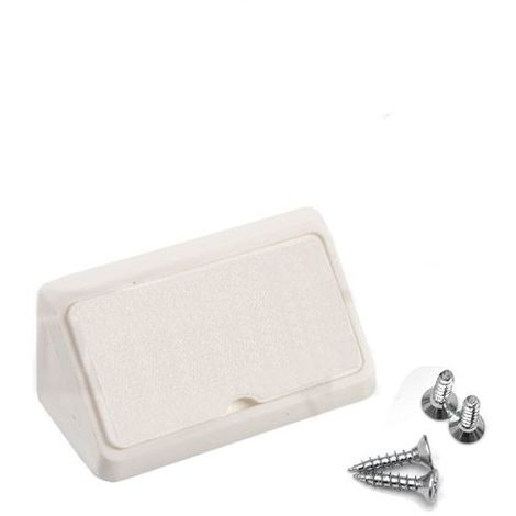 Corner Blocs d'etagere de connexion, Support de support d'etagere Fixation de plinthe en plastique (Paquet de 50) blanc Art: 29-1.4.1.080 / 1-24