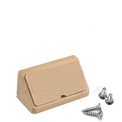 Corner Blocs d'etagere de connexion, Support de support d'etagere Fixation de plinthe en plastique (Paquet de 50) erable Art: 29-1.4.1.080 / 2-24