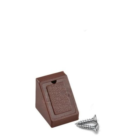 Corner Blocs d'etagere de raccordement, Support de support d'etagere Fixation de plinthe en plastique (Paquet de 50) Brown Art: 29-1.4.1.090 / 5-24