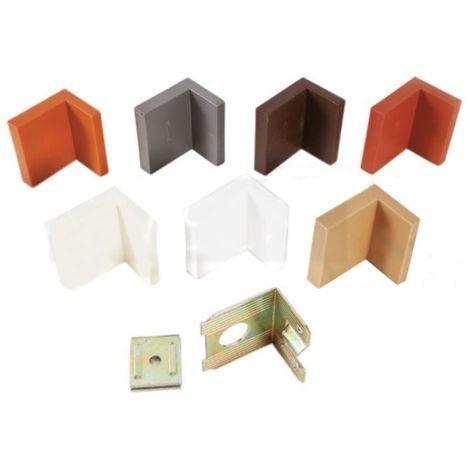 Corner Blocs d'etagere de raccordement, support d'etagere Fixation en plastique de plinthe (Pack of 20) brown Art: 29-3364543-38