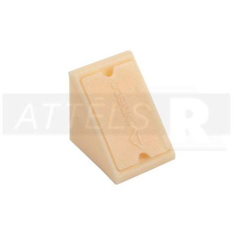 Corner Blocs d'etagere de raccordement, Support d'etagere Plinthe en plastique Fixation (Paquet de 50) Beige Art: 29-84006004