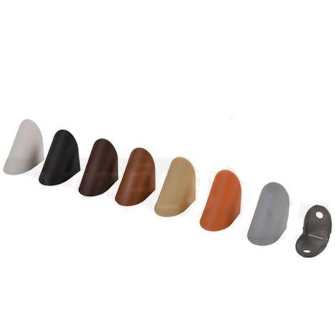 Corner Blocs d'etageres de connexion, Support de support d'etagere Fixation de plinthe en plastique (paquet de 50) gris Art: 29-990 / 8