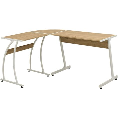 Corner Desk L-Shaped Oak
