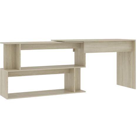 Corner Desk Sonoma Oak 200x50x76 cm Chipboard
