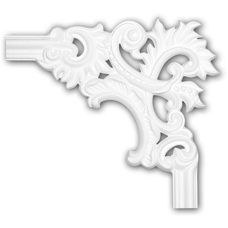 Corner element 152279 Profhome Decorative Element Rococo Baroque style white