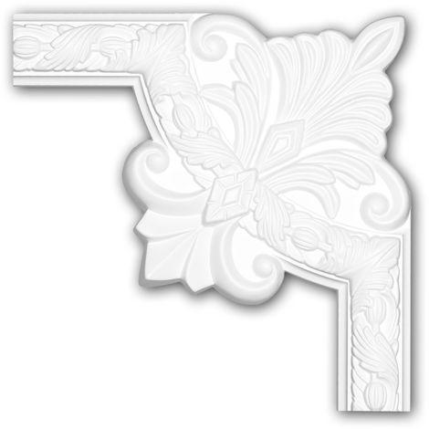 Corner element 152283 Profhome Decorative Element Rococo Baroque style white