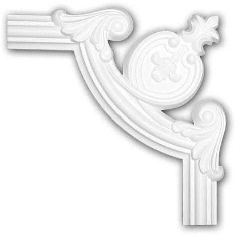 Corner element 152284 Profhome Decorative Element timeless classic design white