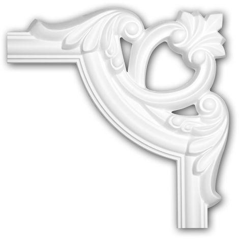 Corner element 152285 Profhome Decorative Element timeless classic design white