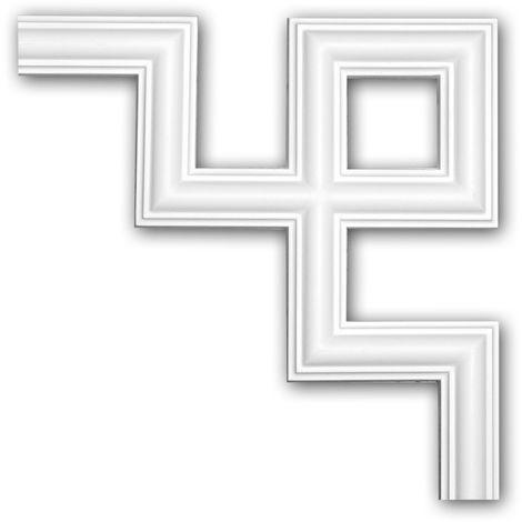 Corner element 152286 Profhome Decorative Element contemporary design white