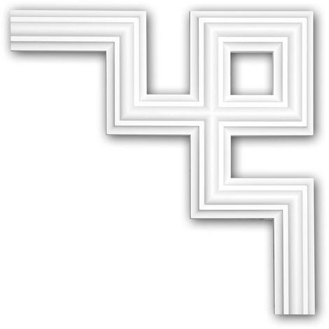 Corner element 152287 Profhome Decorative Element contemporary design white