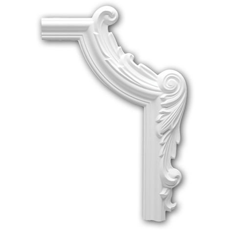 Corner element 152293 Profhome Decorative Element Neo-Empire style white