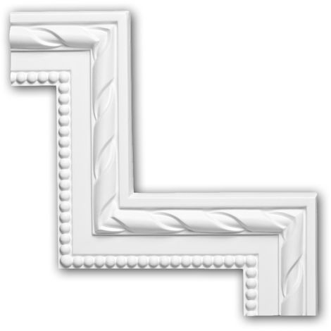 Corner element 152294 Profhome Decorative Element Neo-Classicism style white