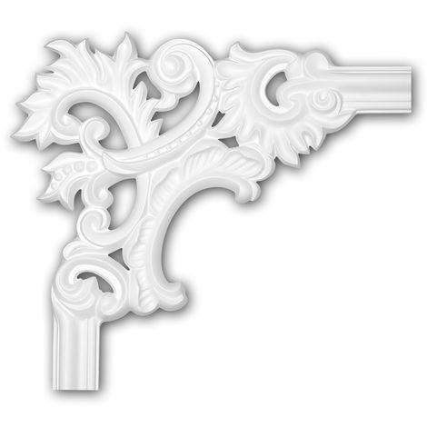 Corner element 152299 Profhome Decorative Element Rococo Baroque style white