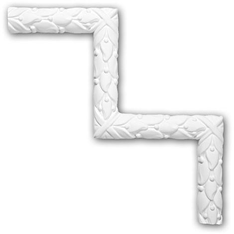 Corner element 152303 Profhome Decorative Element Rococo Baroque style white