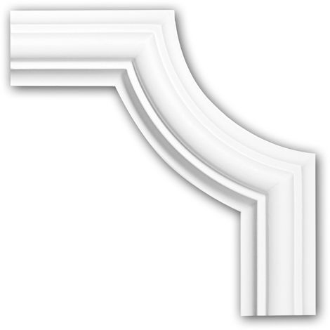 Corner element 152308 Profhome Decorative Element timeless classic design white