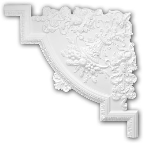 Corner element 152313 Profhome Decorative Element Neo-Renaissance style white