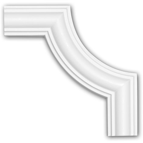 Corner element 152322 Profhome Decorative Element Neo-Classicism style white